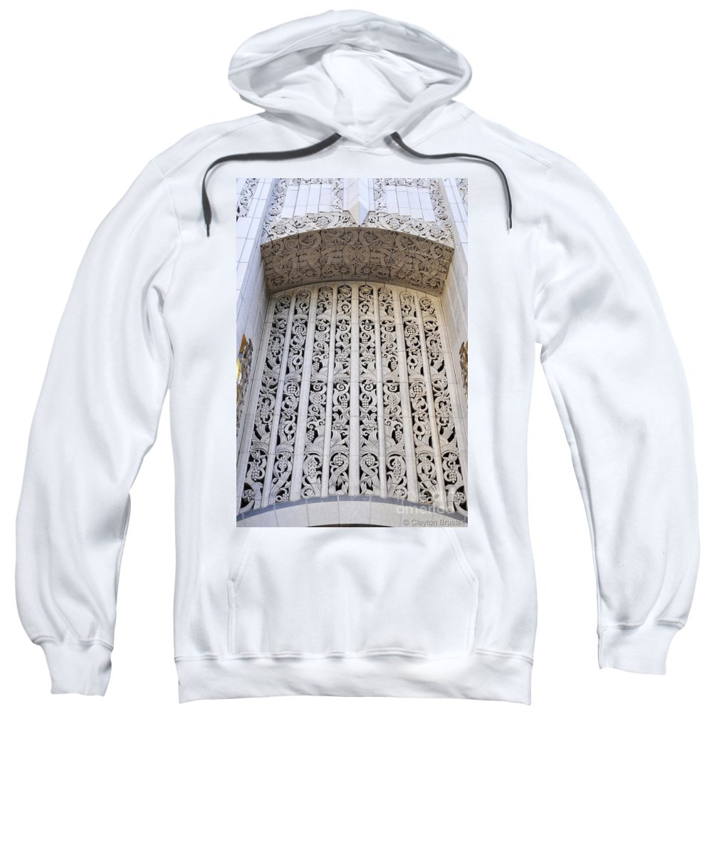 Clay Sweatshirt featuring the photograph Architecture Downtown Los Angeles by Clayton Bruster