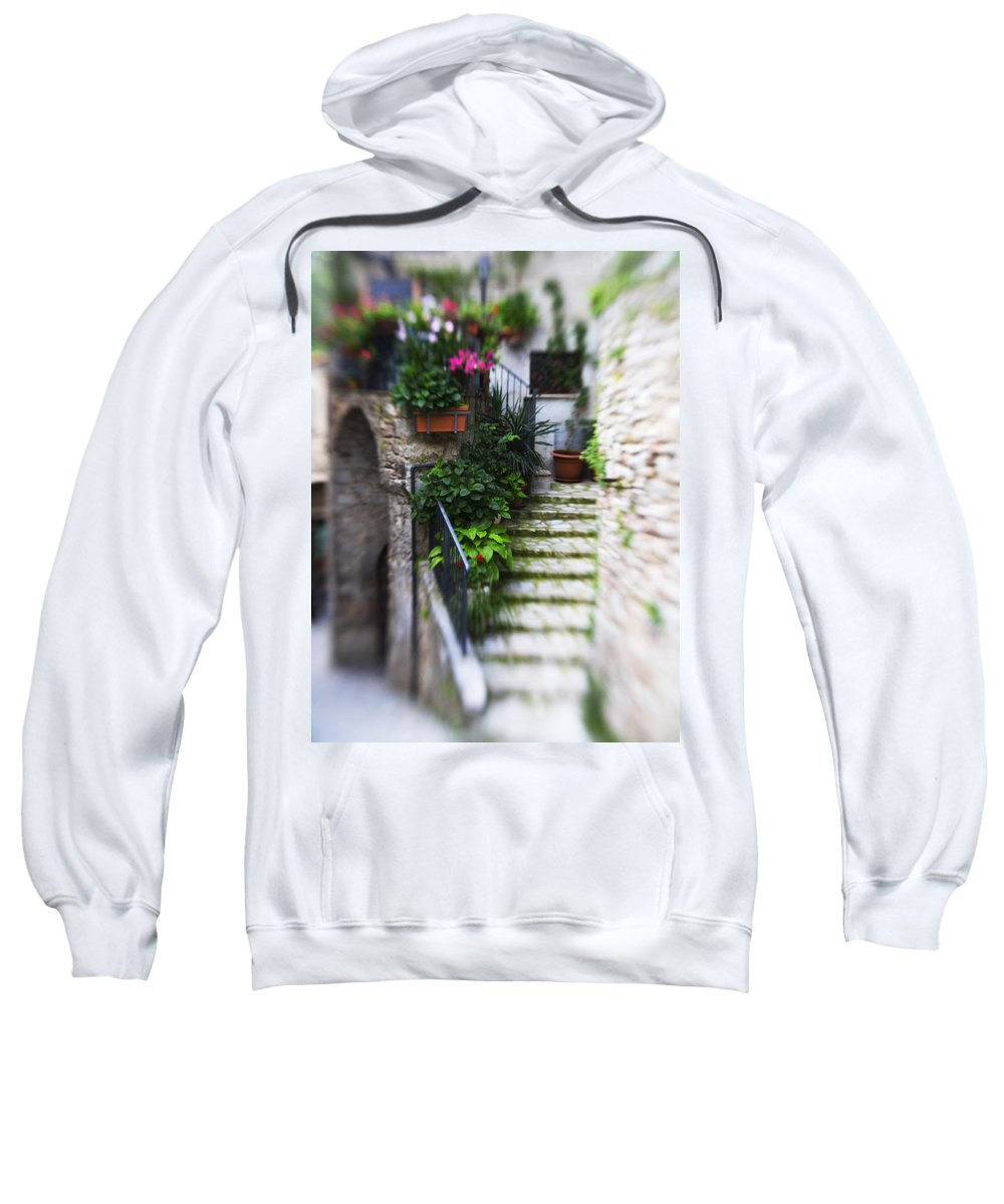 Italy Sweatshirt featuring the photograph Archway And Stairs by Marilyn Hunt