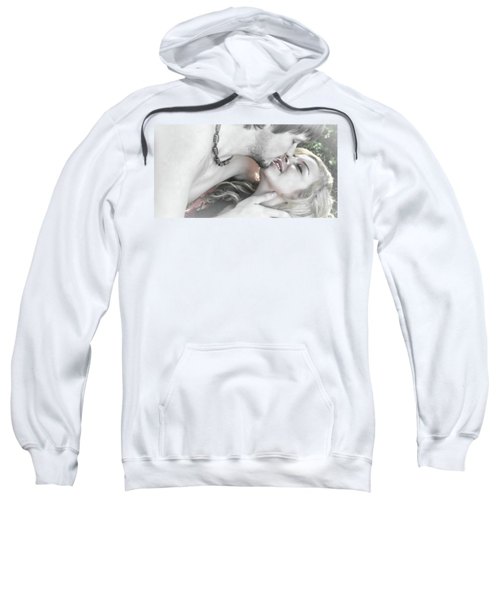 Love Sweatshirt featuring the photograph Are You Gonna Kiss Me Or Not by Kristie Bonnewell