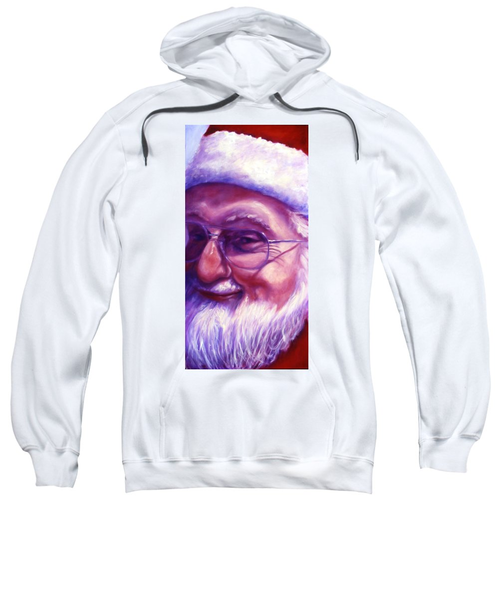 Portrait Sweatshirt featuring the painting Are You Sure You Have Been Nice by Shannon Grissom