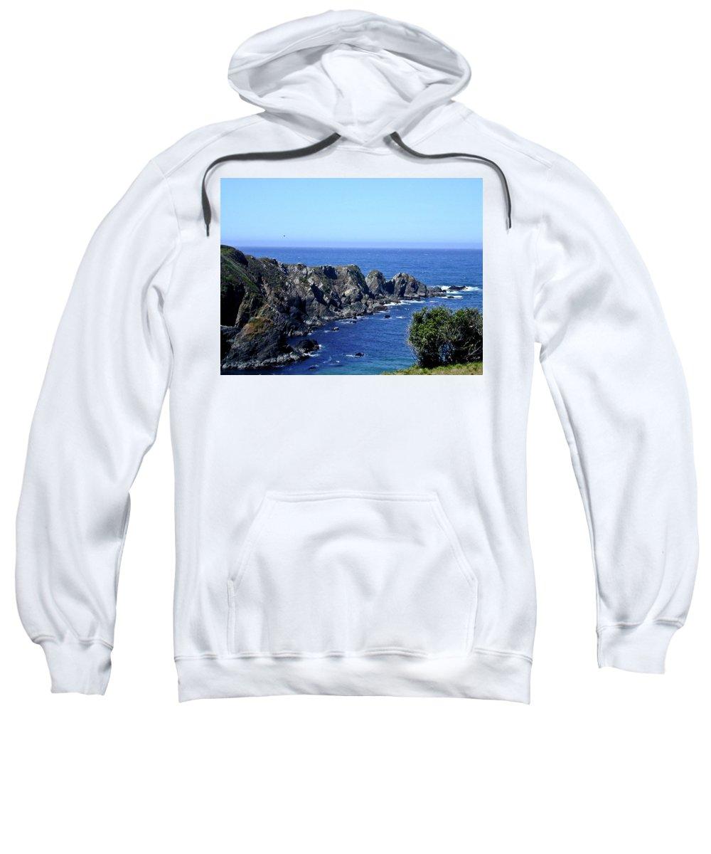 Arena Sweatshirt featuring the photograph Arena Point California by Douglas Barnett