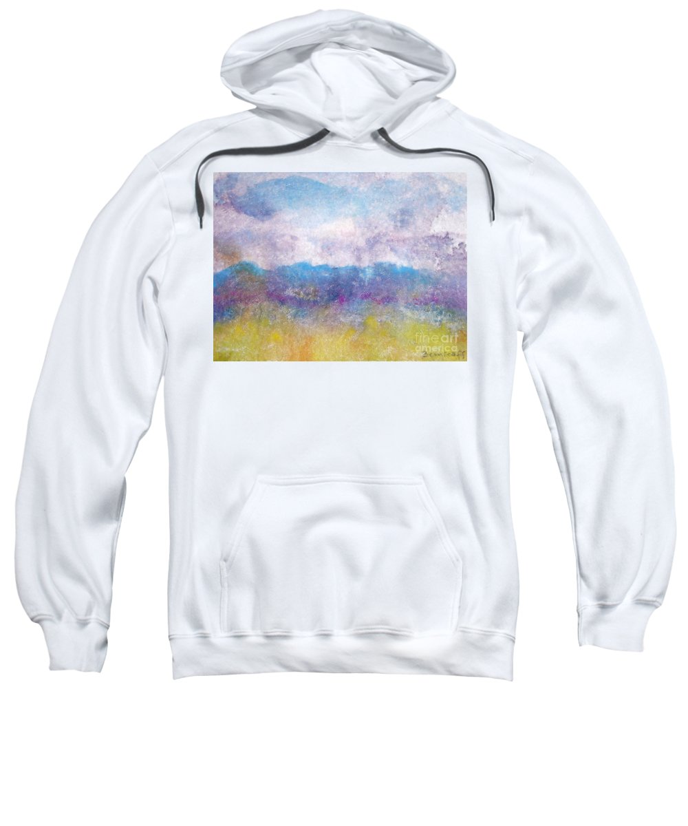 Abstract Sweatshirt featuring the painting Arizona Impressions by Jan Bennicoff