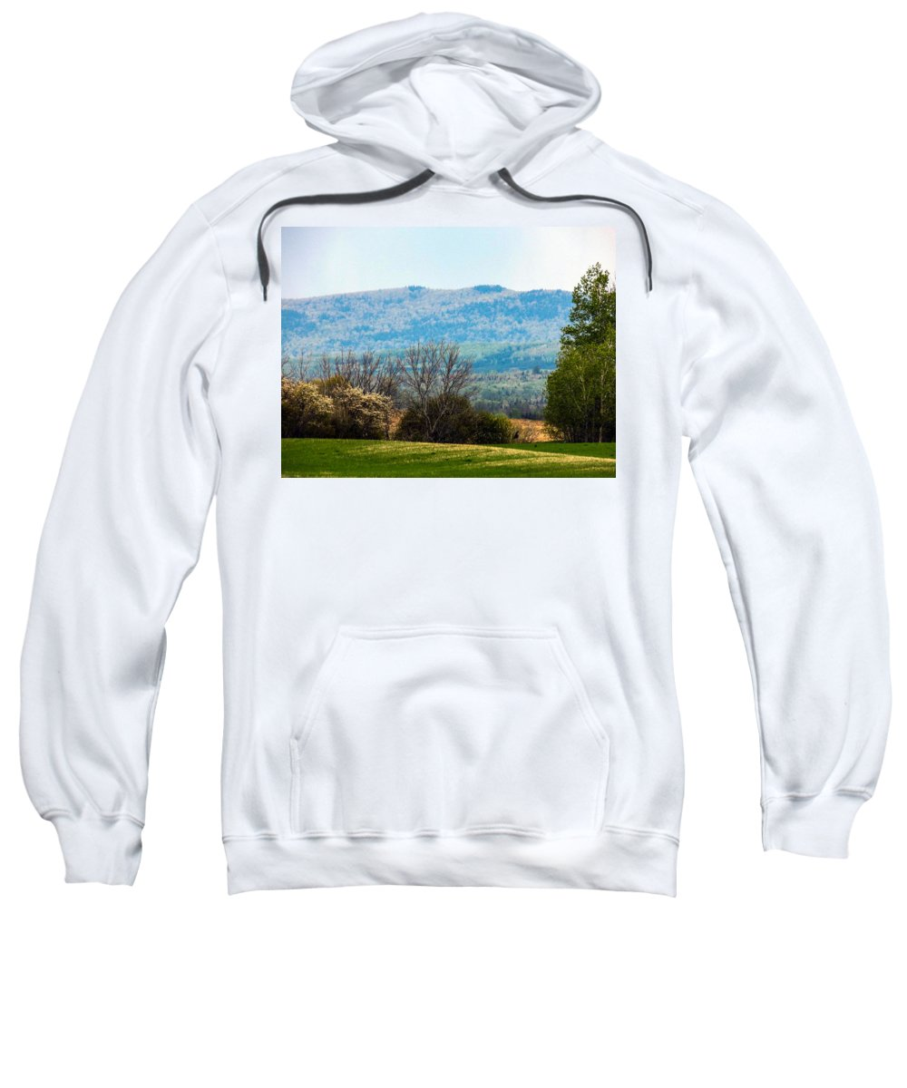 Landscapes Sweatshirt featuring the photograph Aroostook Landscape by William Tasker