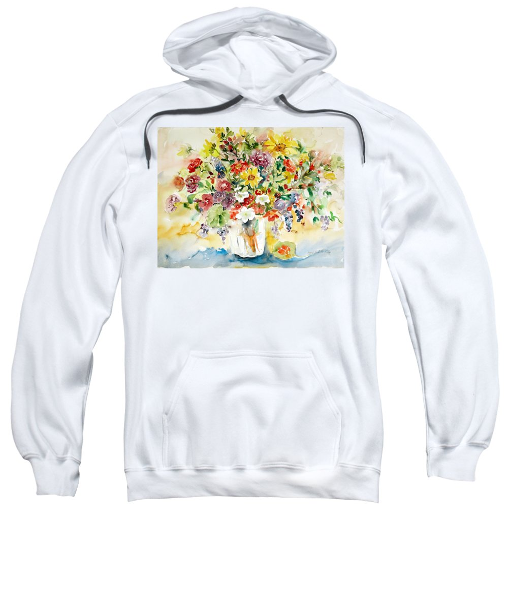 Watercolor Sweatshirt featuring the painting Arrangement III by Ingrid Dohm