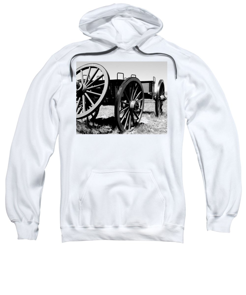 Wagon Sweatshirt featuring the photograph Artillery Wagon by Jean Macaluso