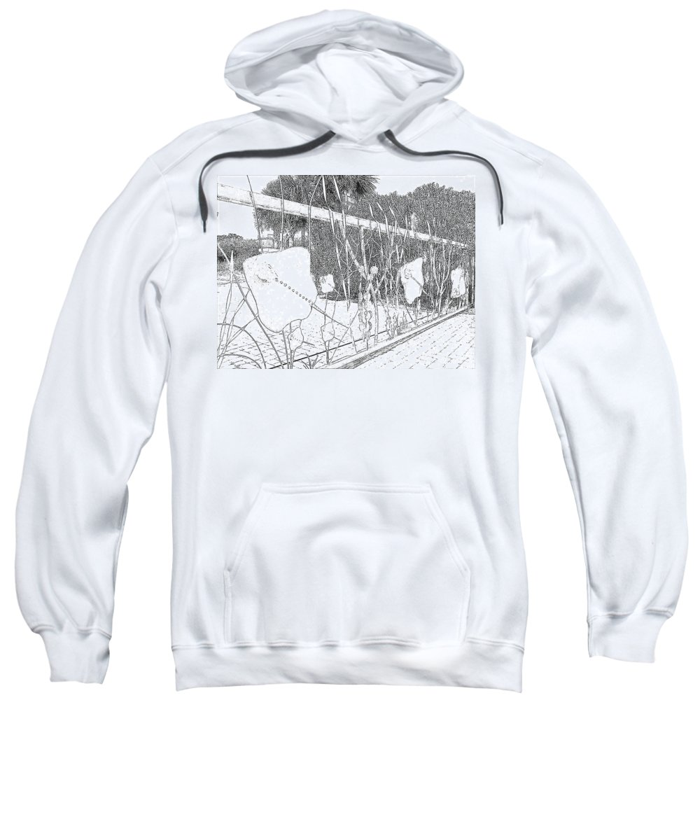 Fence Sweatshirt featuring the photograph Artsy Fence by Michelle Powell