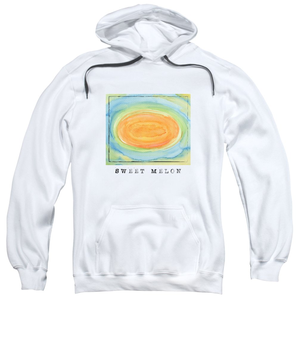 Sweet Melon Sweatshirt featuring the painting Sweet Melon by Kathleen Wong