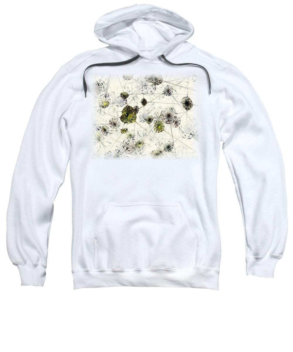 Malakhova Sweatshirt featuring the digital art Neural Network by Anastasiya Malakhova
