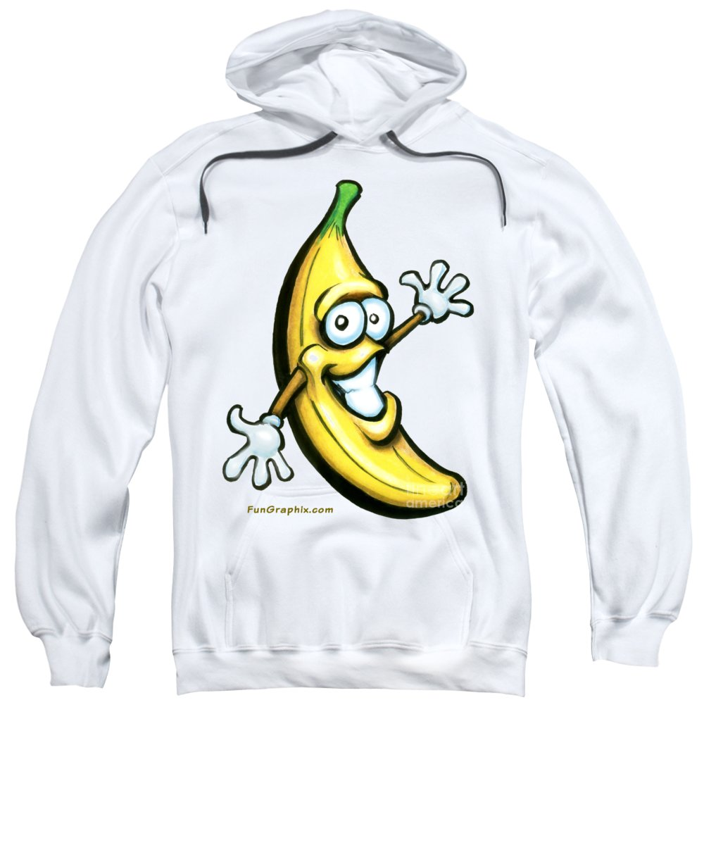 Banana Sweatshirt featuring the painting Banana by Kevin Middleton