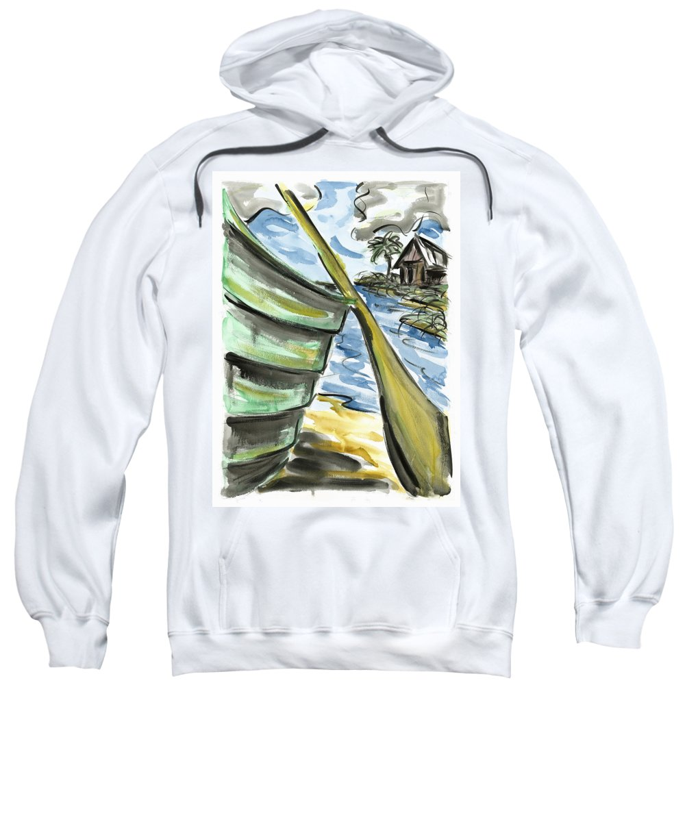 Seascape Sweatshirt featuring the painting Ashore by Robert Joyner