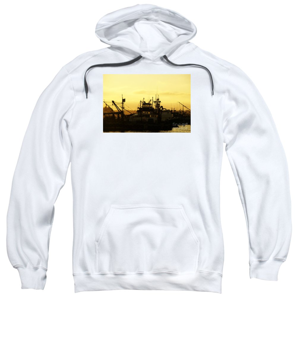 San Diego Sweatshirt featuring the photograph At Days End by Linda Shafer