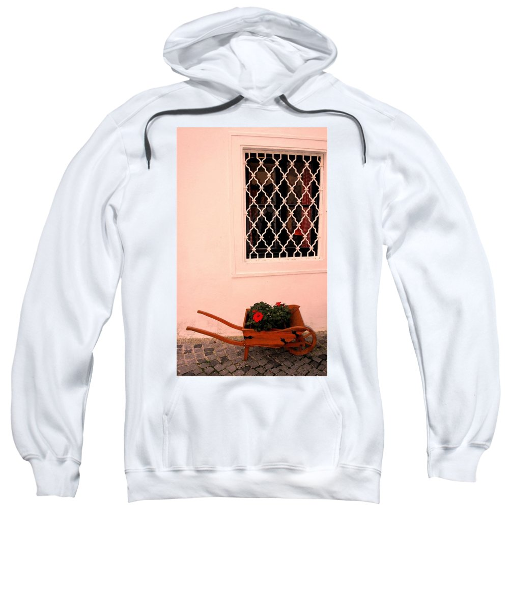 Vienna Sweatshirt featuring the photograph At The Winery by Ian MacDonald