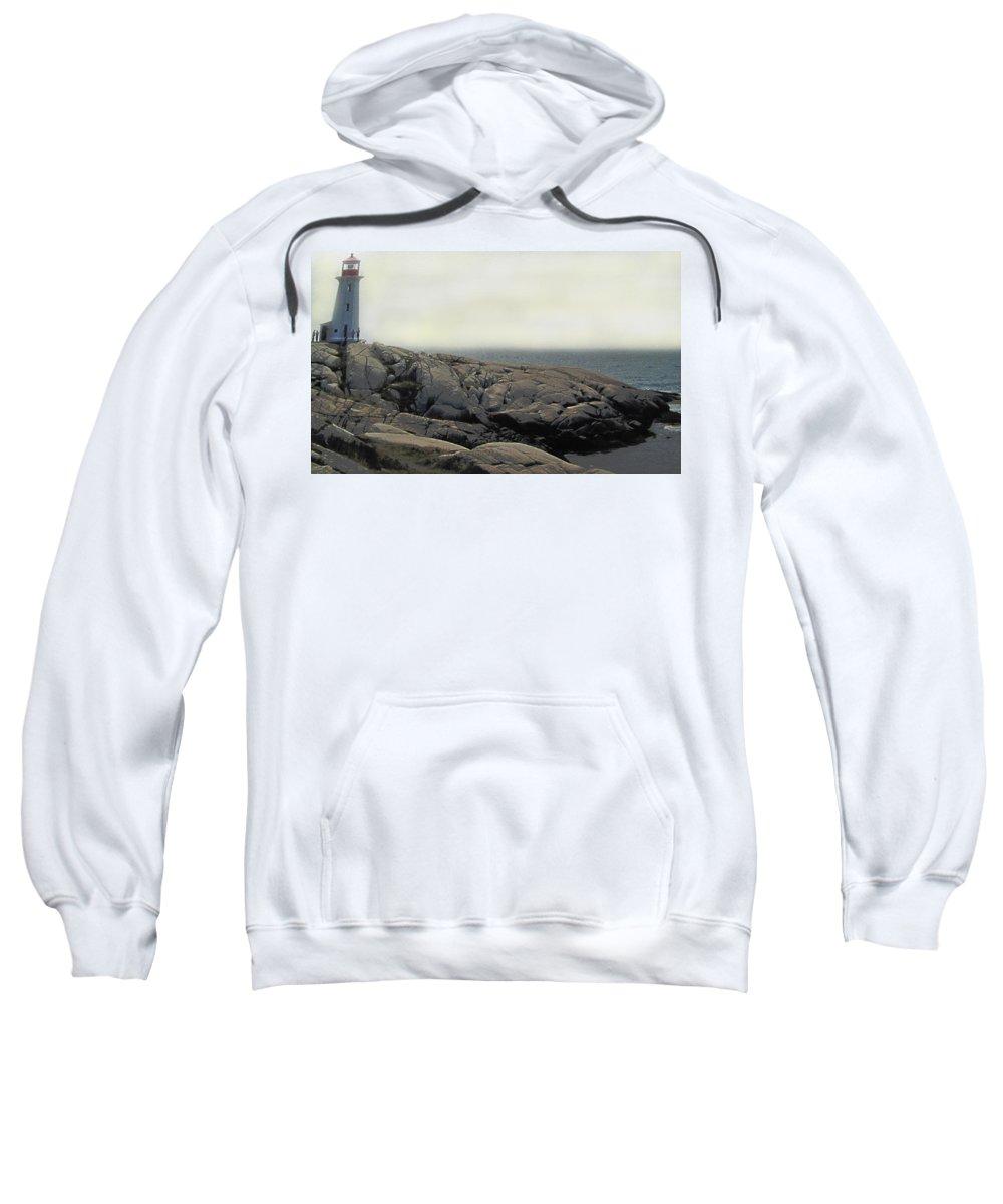 Lighthouse Sweatshirt featuring the photograph Atlantic Lighthouse by Ian MacDonald