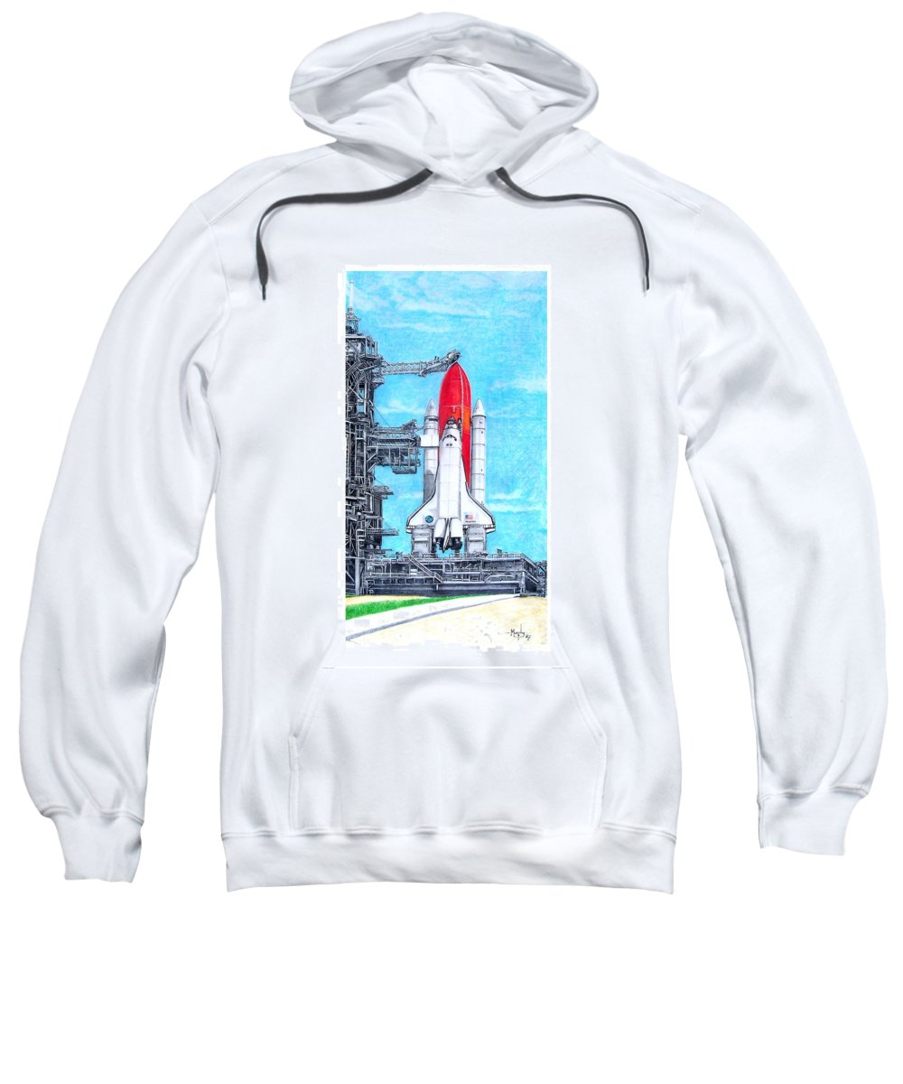 Drawing Sweatshirt featuring the drawing Atlantis by Murphy Elliott