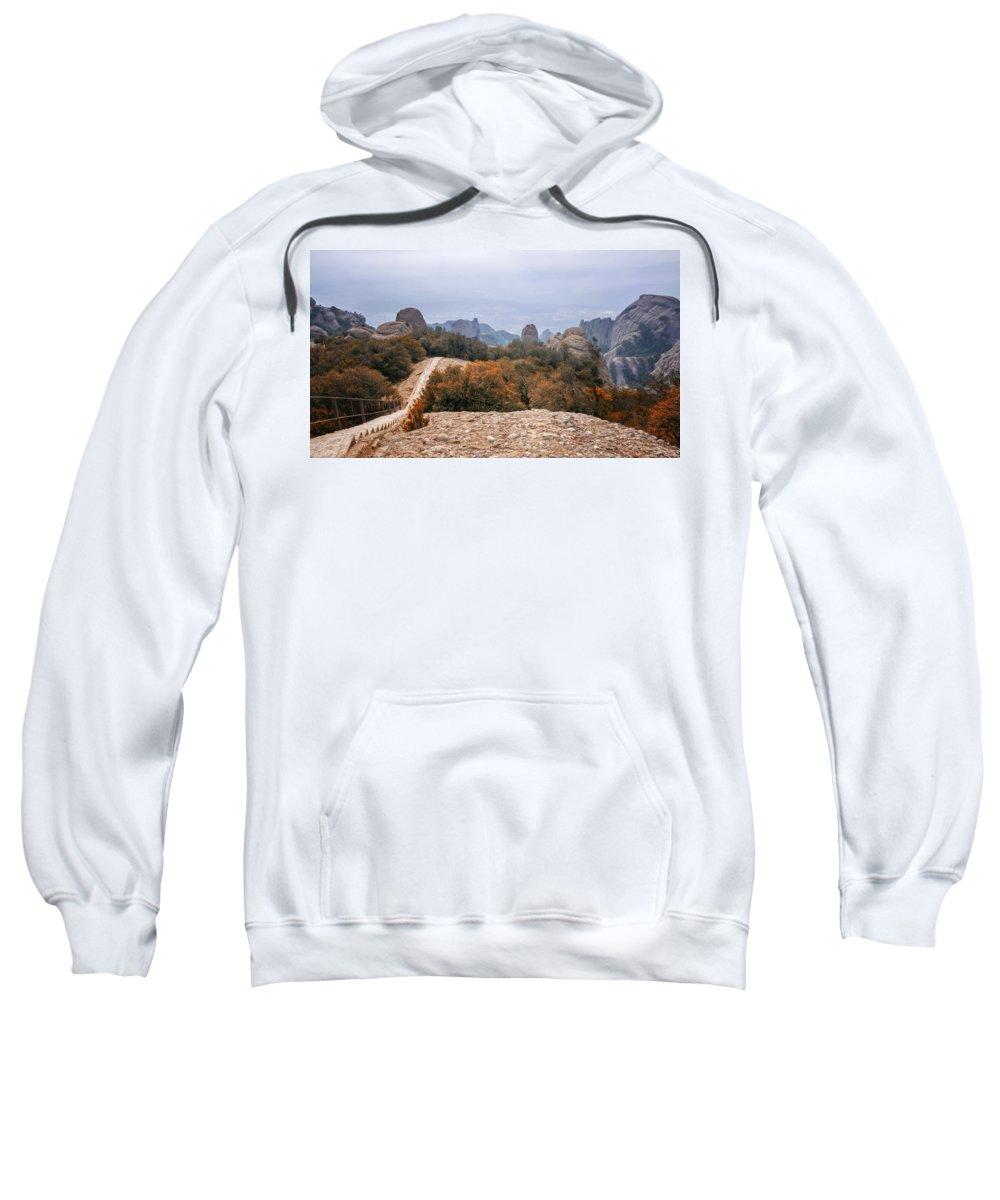 Joan Carroll Sweatshirt featuring the photograph Atop Sant Jeroni by Joan Carroll