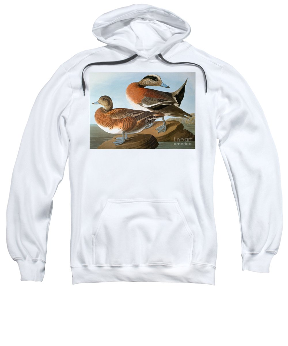 1827 Sweatshirt featuring the photograph Audubon: Wigeon, 1827-38 by Granger