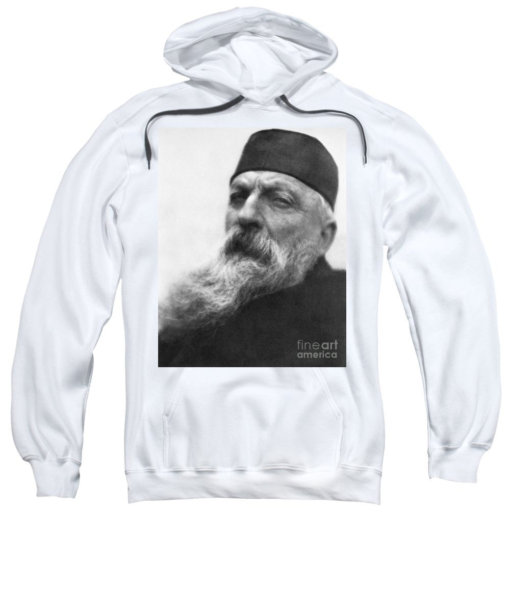 1906 Sweatshirt featuring the photograph Auguste Rodin (1840-1917) by Granger