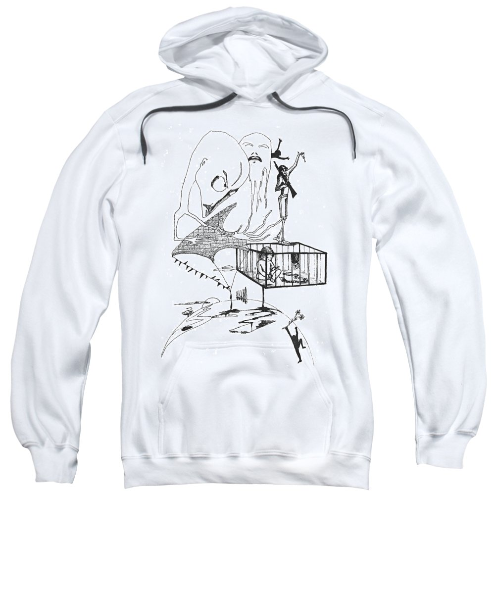 Drawing Pen Automatism Sweatshirt featuring the drawing Automatism by Veronica Jackson