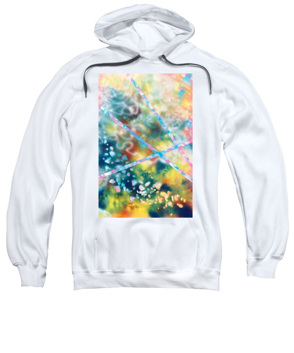 Abstract Sweatshirt featuring the painting Autumn by Micah Guenther