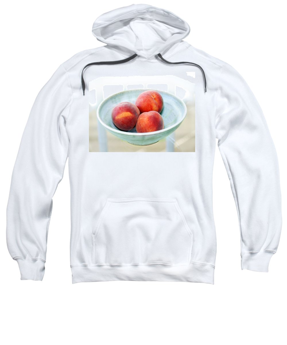 Peaches Sweatshirt featuring the photograph Autumn Peaches by Marilyn Hunt