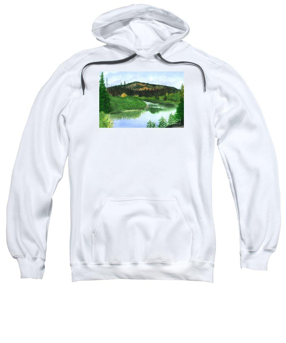 Autumn Sweatshirt featuring the painting Autumn Transition by Lynn Quinn