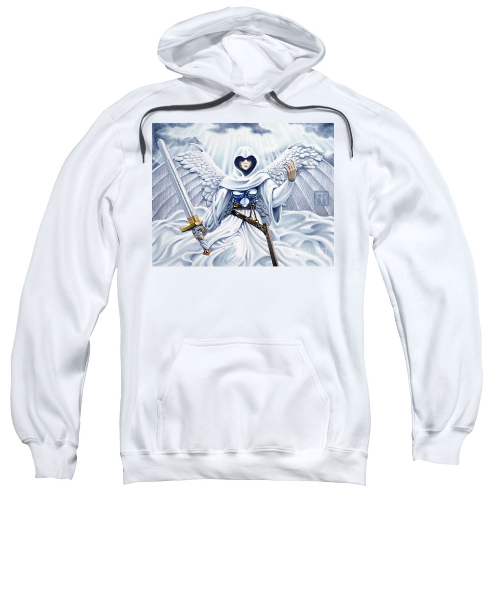 Angel Sweatshirt featuring the painting Avenging Angel by Melissa A Benson
