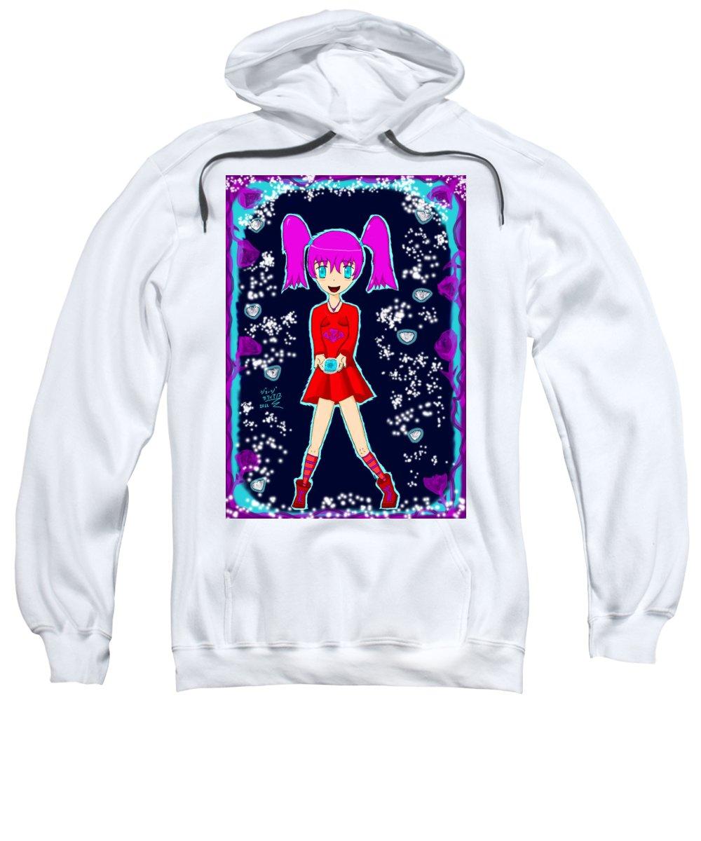 Anime Sweatshirt featuring the digital art Ayumi by George Katsianos