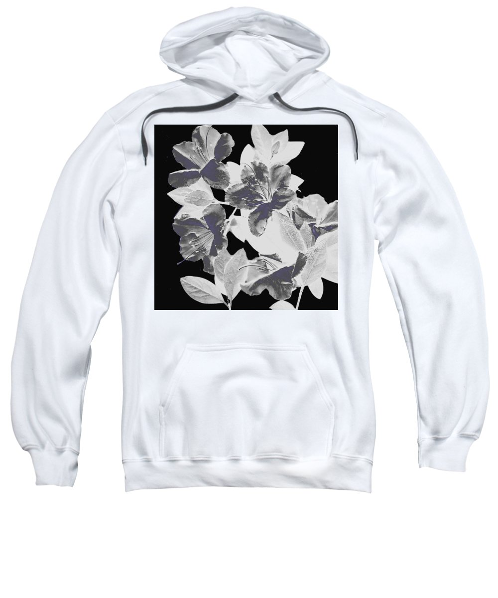 Azalea Sweatshirt featuring the photograph Azalea Branch by Wayne Potrafka