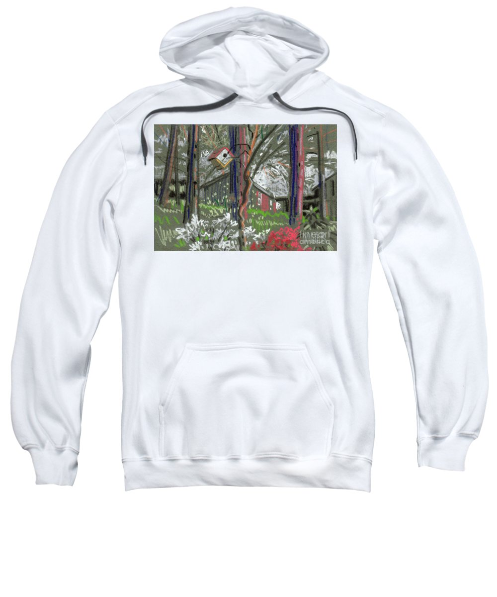 Azalea Sweatshirt featuring the drawing Azaleas In Spring by Donald Maier