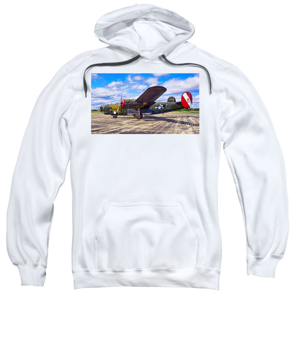 B25 Sweatshirt featuring the photograph B-24 Liberator by Joe Geraci