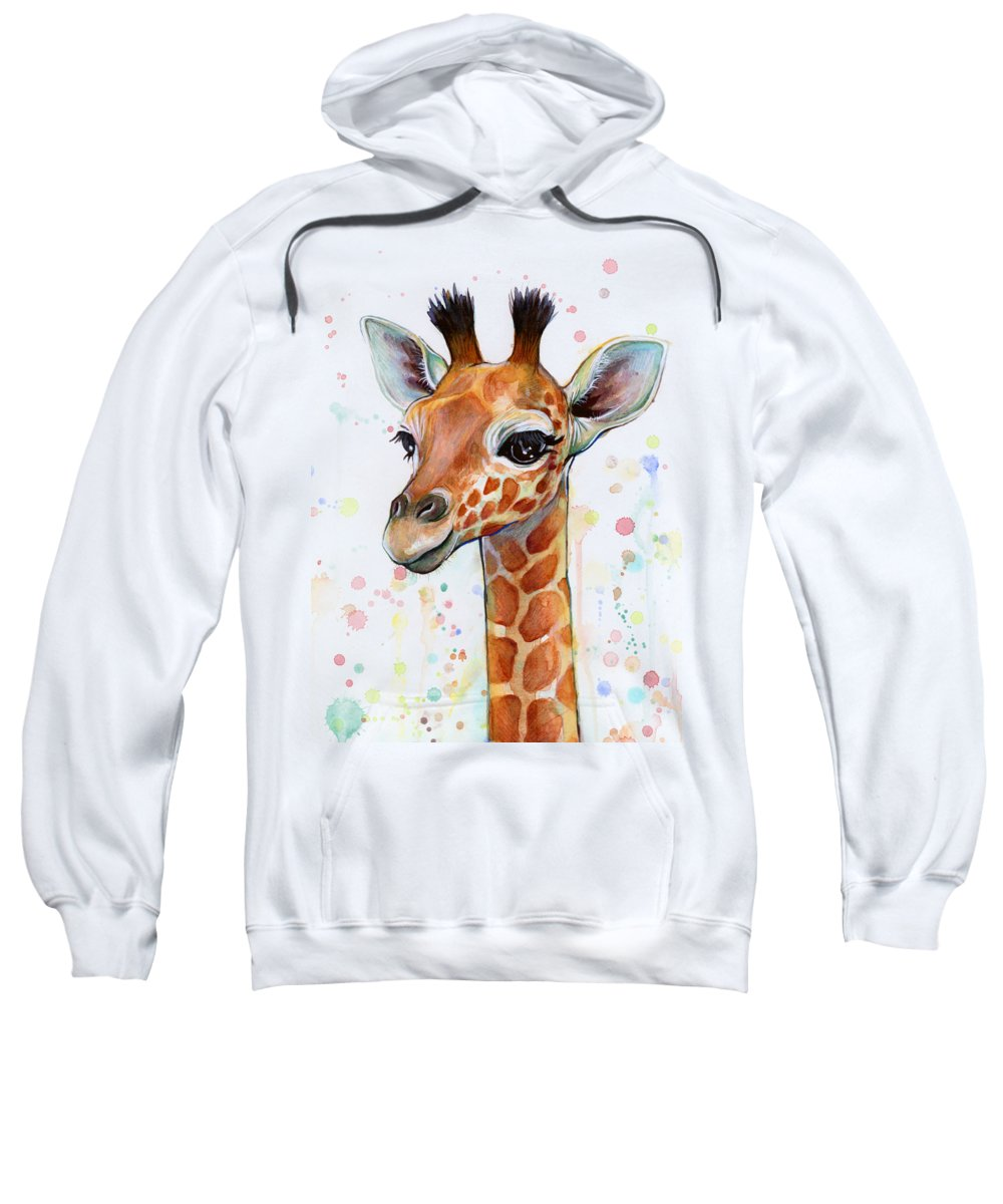 Giraffe Hooded Sweatshirts T-Shirts