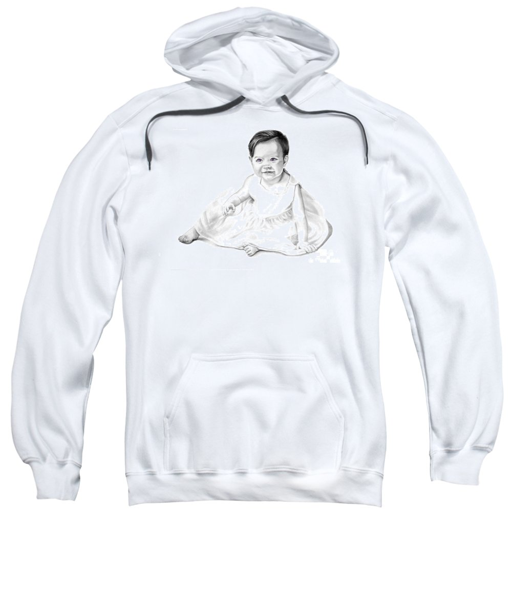 Baby Sweatshirt featuring the drawing Baby Jane by Murphy Elliott