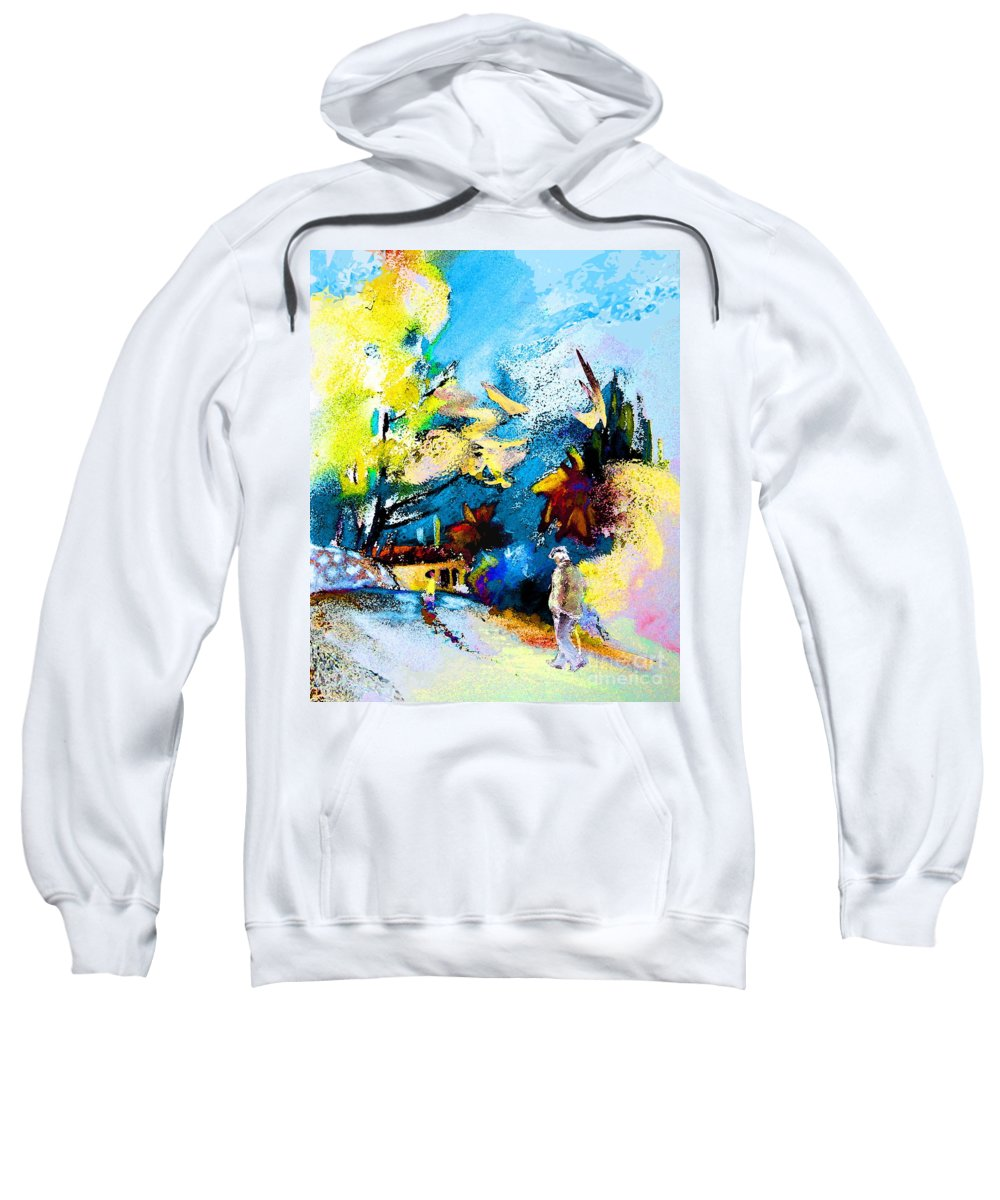 Pastel Painting Sweatshirt featuring the painting Back Home by Miki De Goodaboom