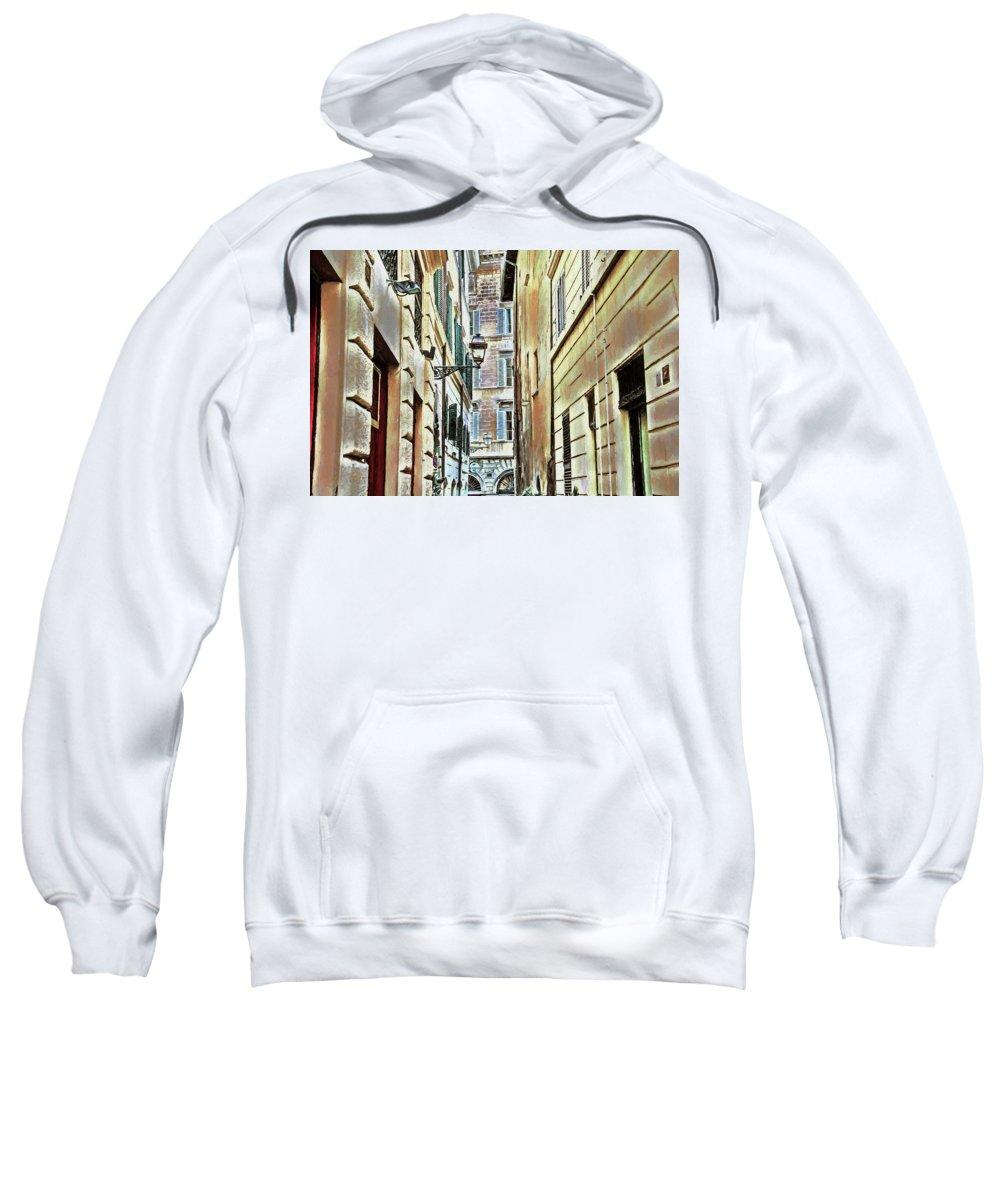 Street Sweatshirt featuring the photograph Back Street Lamp by Denis Brien