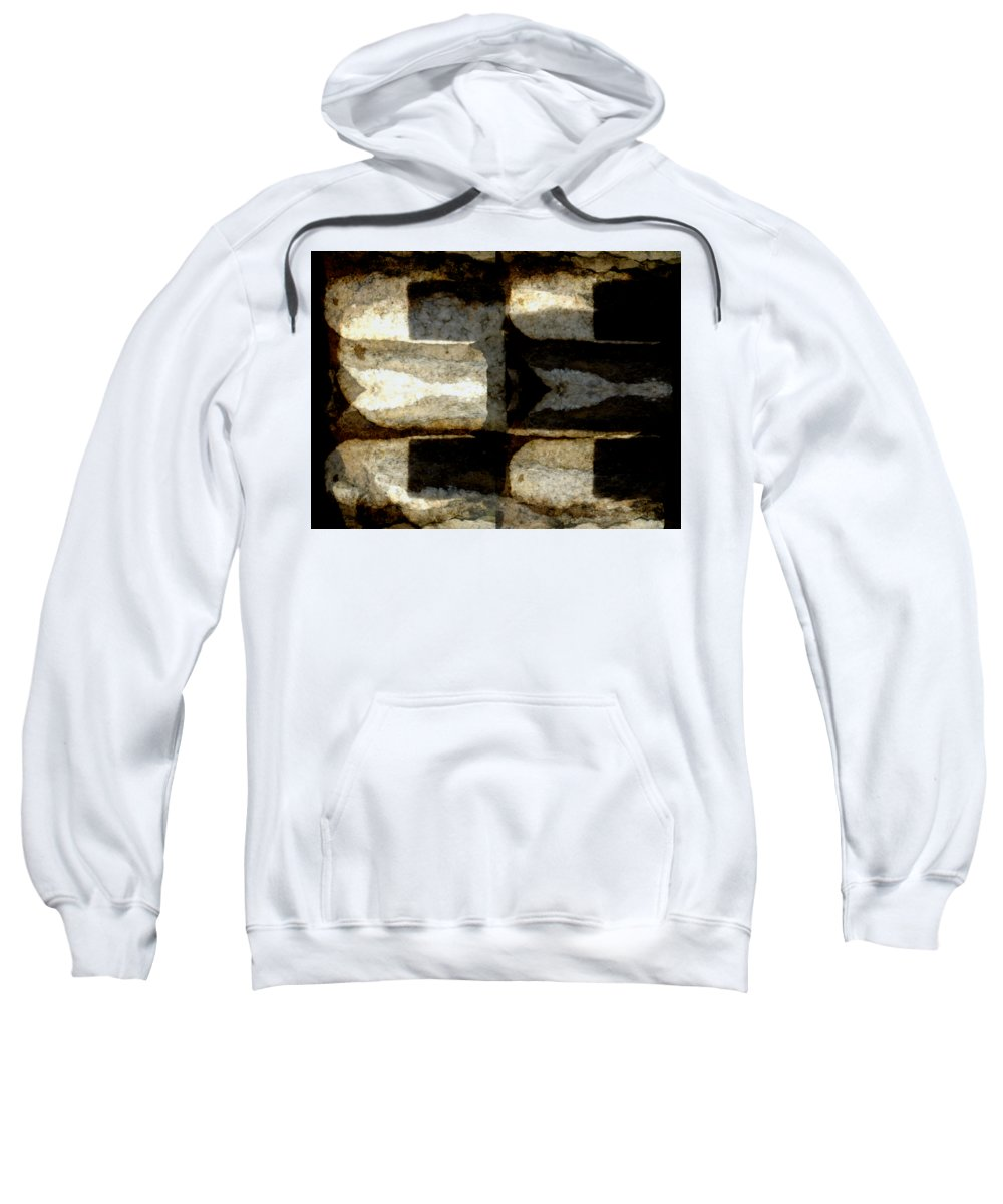Colour Choice Stone Abstract Sweatshirt featuring the photograph Colour Choice Stone Abstract by Barbara Moignard