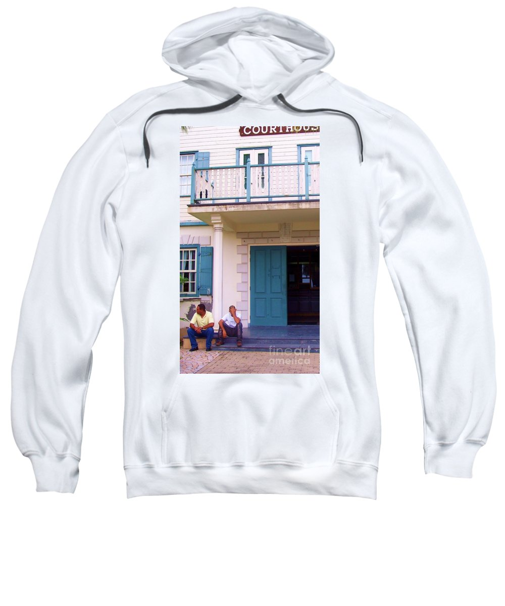 Building Sweatshirt featuring the photograph Bad Day in Court by Debbi Granruth