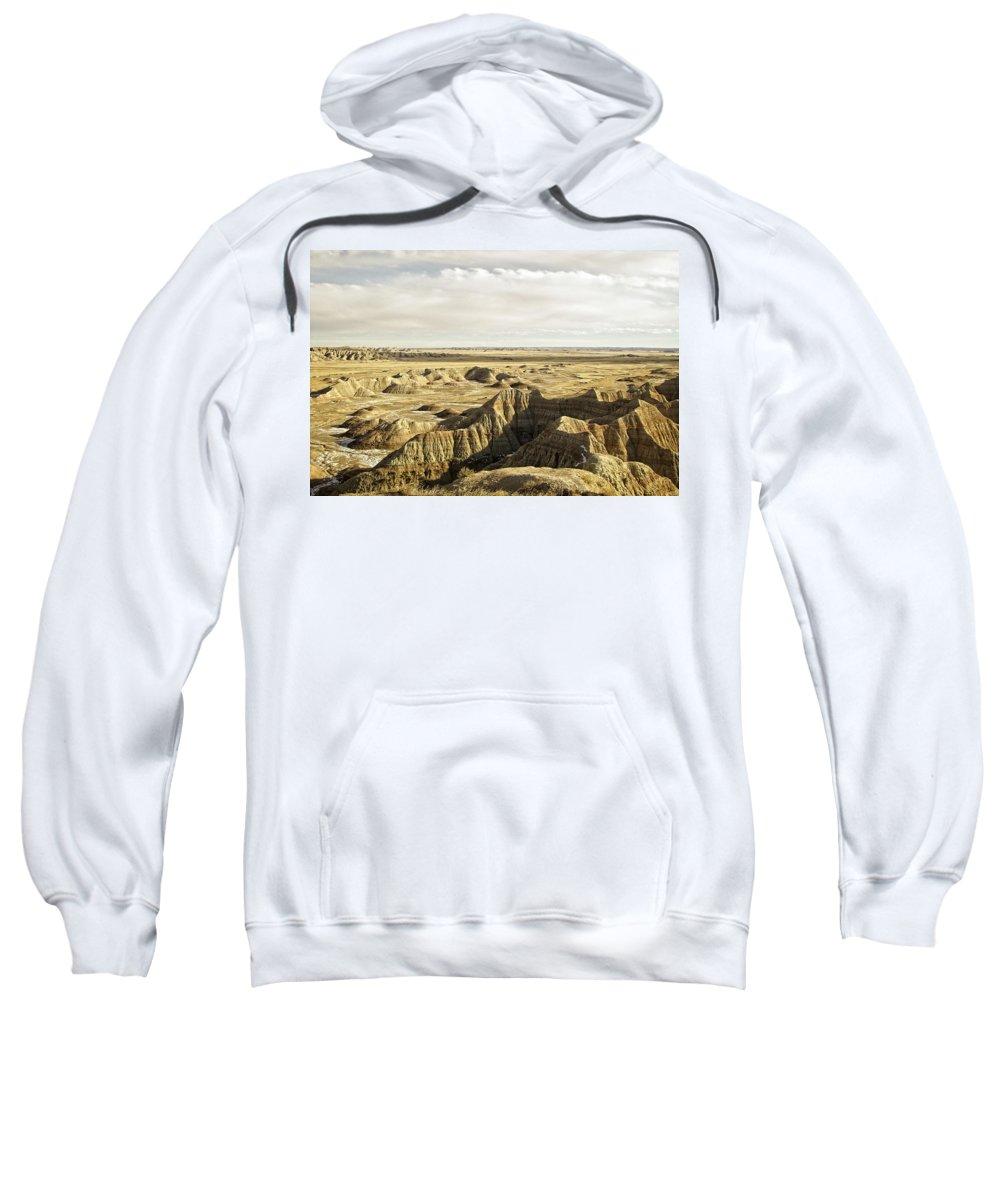 Badlands Sweatshirt featuring the photograph Badlands 2 by Ingrid Smith-Johnsen
