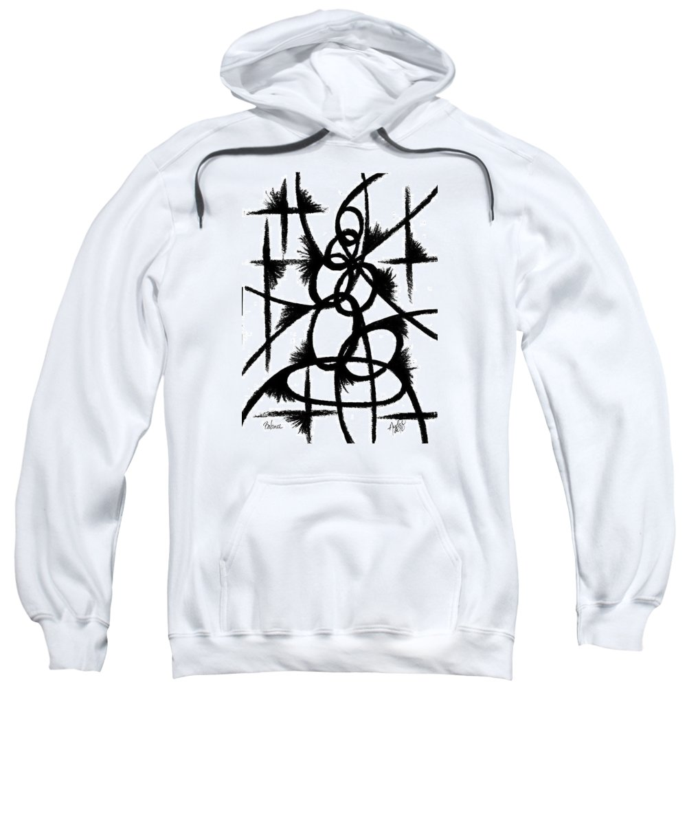 Modernist - Contemporany Sweatshirt featuring the drawing Balance by Arides Pichardo