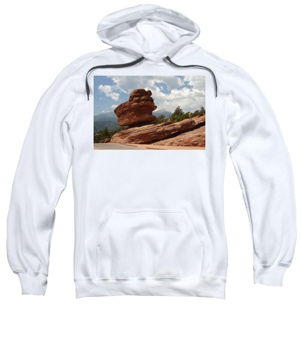 Colorado Sweatshirt featuring the photograph Balance Rock by Anita Burgermeister
