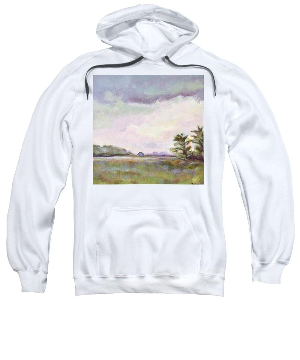 Sweatshirt featuring the painting Bald Head Island by Rachel Sunnell