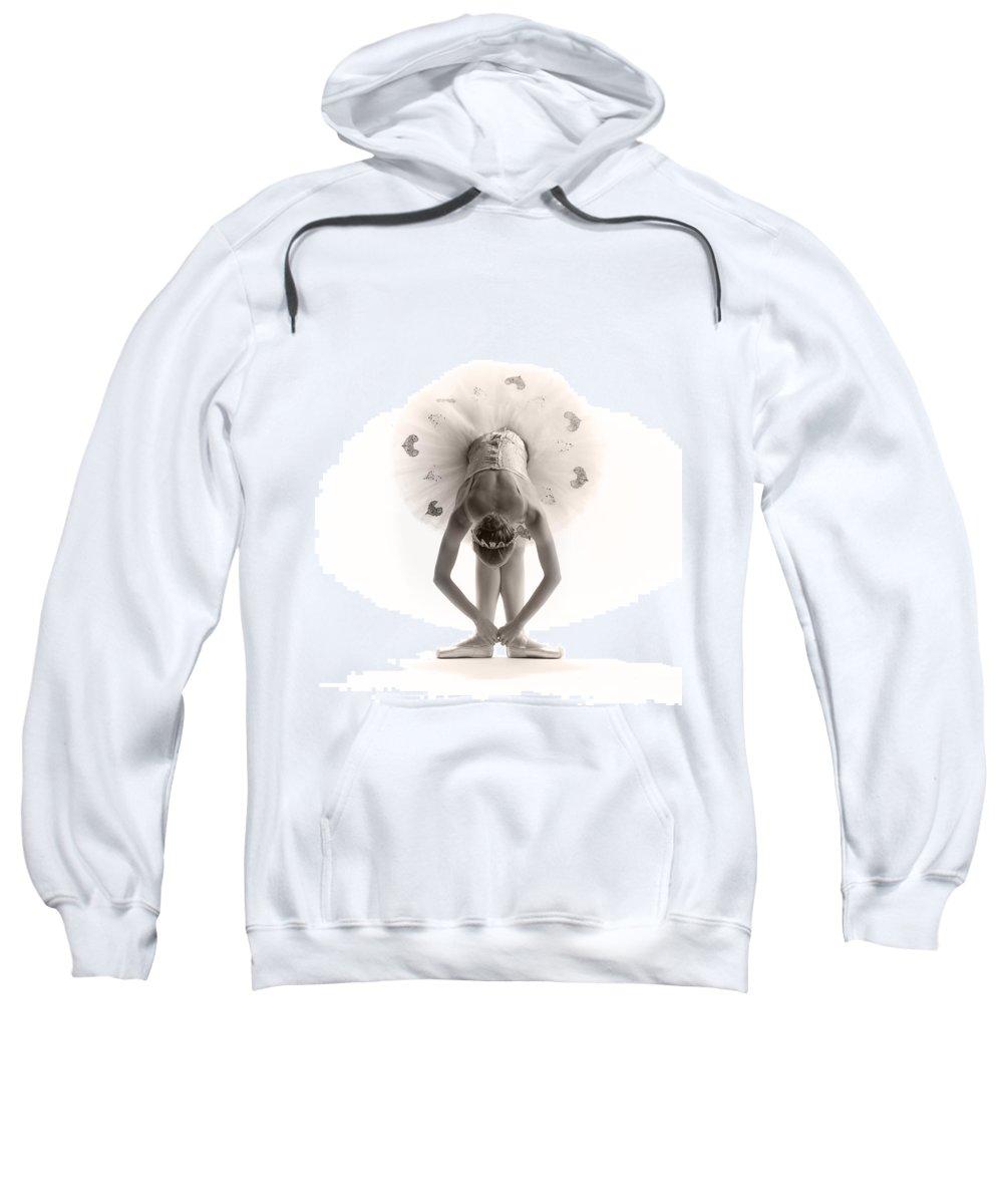Ballerina Sweatshirt featuring the photograph Ballerina Bent by Steve Williams