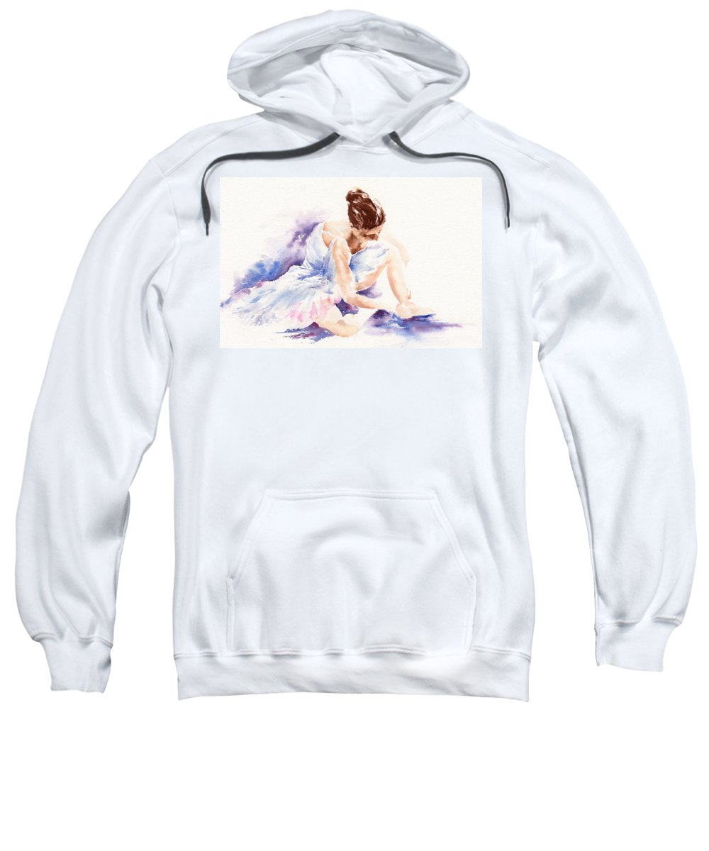 Ballerina Sweatshirt featuring the painting Ballerina by Stephie Butler