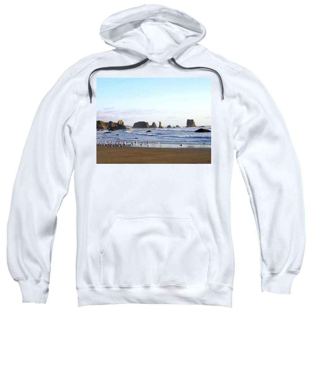 Seascape Sweatshirt featuring the photograph Bandon 36 by Will Borden
