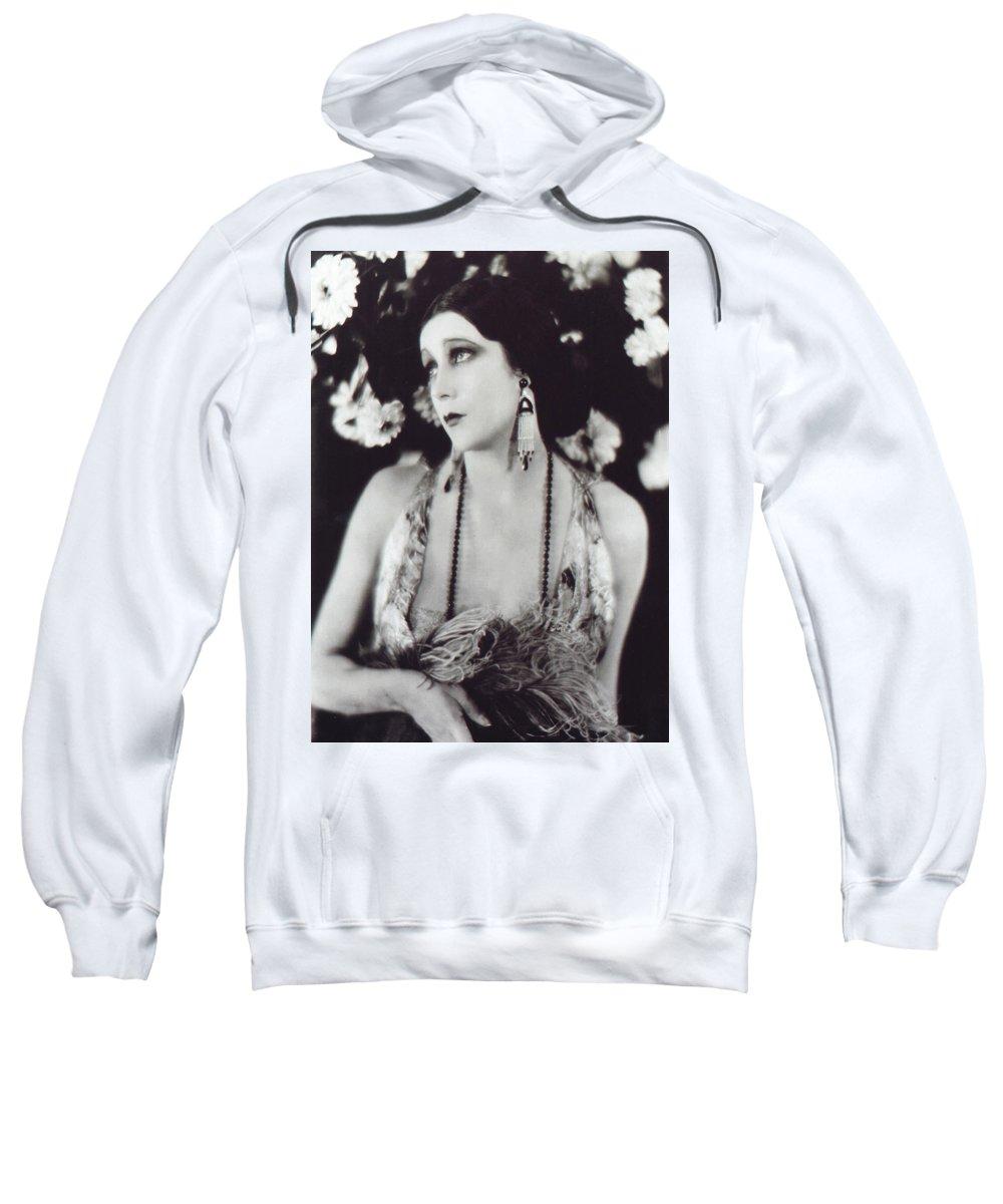Barbara La Marr Sweatshirt featuring the photograph Barbara La Marr by Not known