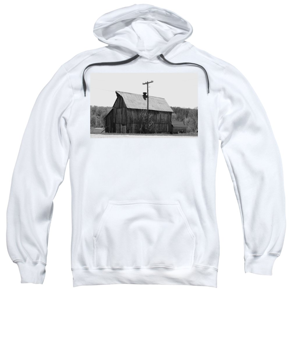 Barns Sweatshirt featuring the photograph Barn On The Side Of The Road by Angus Hooper Iii