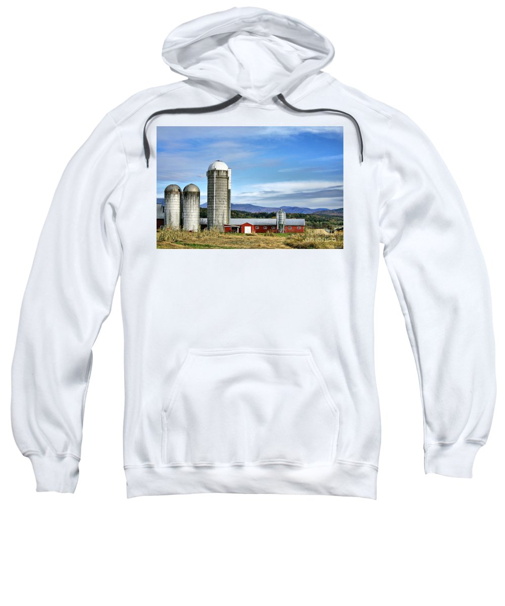 Rural Sweatshirt featuring the Barn With A View by Deborah Benoit