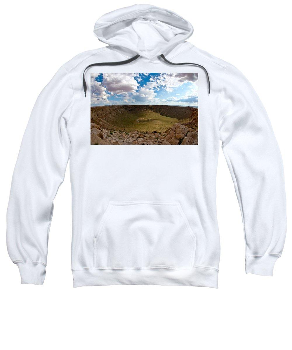 Meteor Sweatshirt featuring the photograph Barringer Meteor Crater #5 by Robert J Caputo