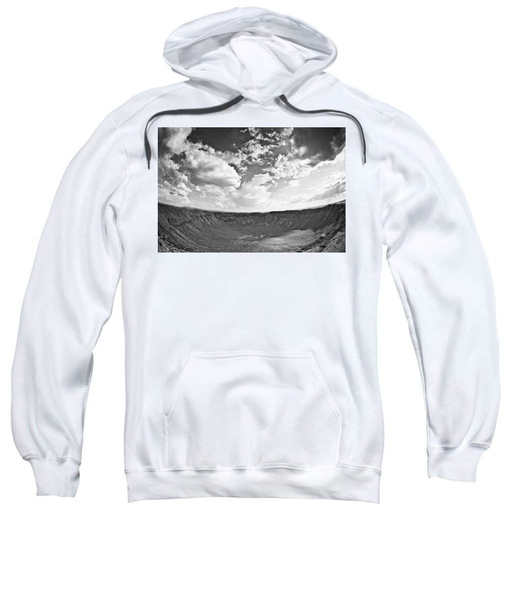 Meteor Sweatshirt featuring the photograph Barringer Meteor Crater by Robert J Caputo
