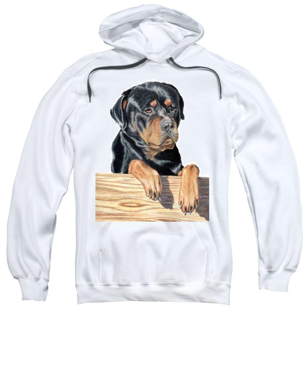 Dog Sweatshirt featuring the drawing Bart by Kristen Wesch