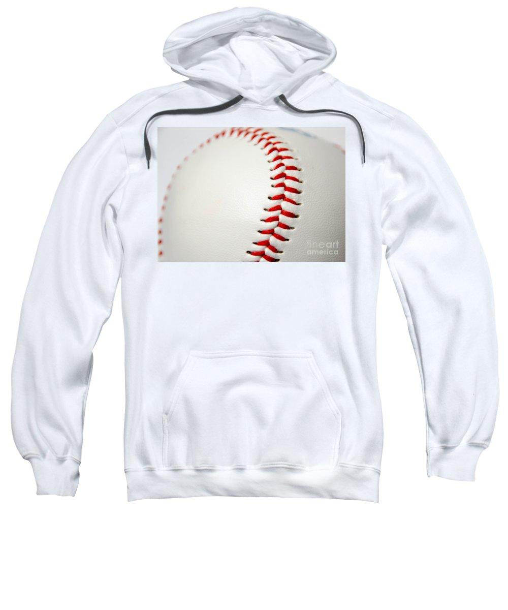 Baseball Sweatshirt featuring the photograph Baseball by Andrea Anderegg